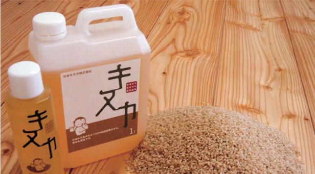 お米から生まれた自然塗料キヌカ