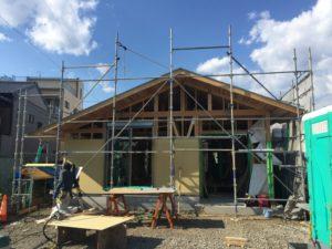 藤枝市「循環する越屋根の平屋の家」構造見学会